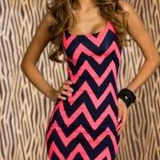Chevron party dress