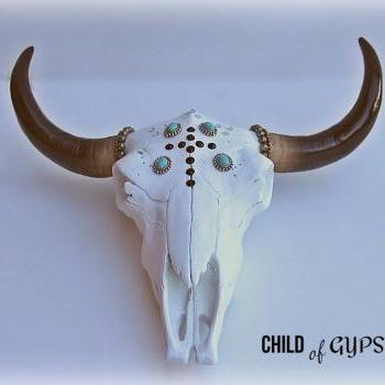 Decorative Cow Skull Wall Mount